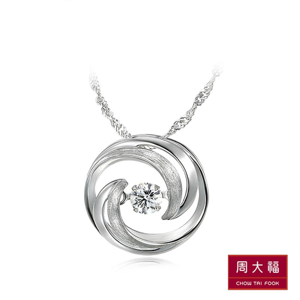 周大福 怦然系列 雙月鑽石18K金吊墬 @ Y!購物