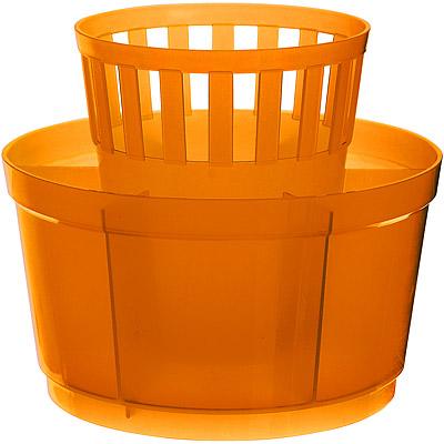 EXCELSA 七格餐具瀝水筒 橘