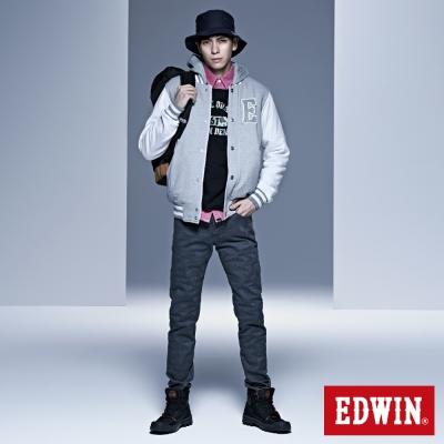 EDWIN 窄直筒 EDGE迷彩提織後染色褲-男-墨綠