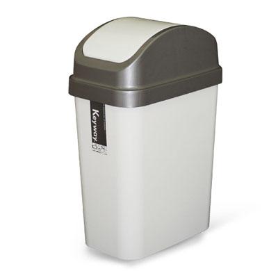 《創意達人》10公升附蓋垃圾桶(3入)