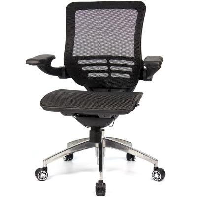 aaronation 愛倫國度 線控底盤人體工學椅 黑網鋁腳