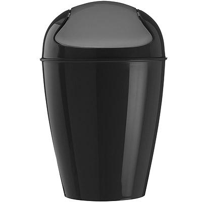 KOZIOL 搖擺蓋垃圾桶(黑XS)