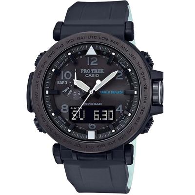 PROTREK專為夜間戶外活動灰色離子IP登山錶(PRG-650Y-1)黑框X黑/52mm