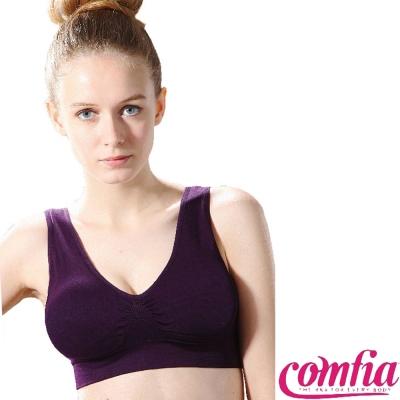 運動內衣 無痕輕感美胸-紫色 COMFIA康裴亞