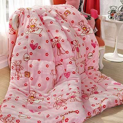 義大利Fancy Belle 甜蜜寶貝熊 雪芙絨暖暖被 150*195CM
