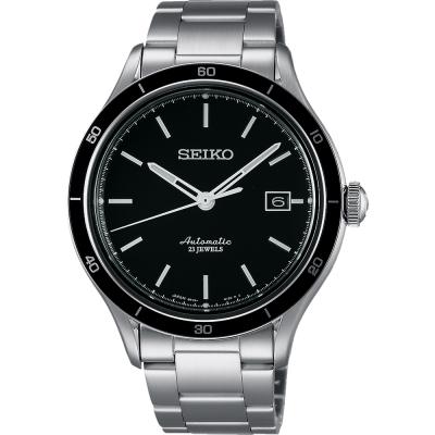 SEIKO 6R15精工23石都會機械腕錶(SARG013J)-黑/41mm