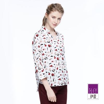 ILEY伊蕾 水果印花質感上衣魅力價商品(白)