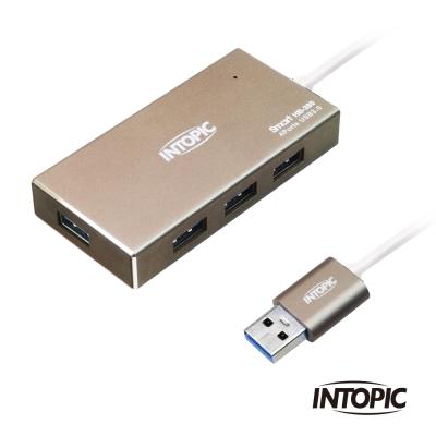 INTOPIC 廣鼎 USB 3 . 0  鋁合金高速集線器(HB- 380 )