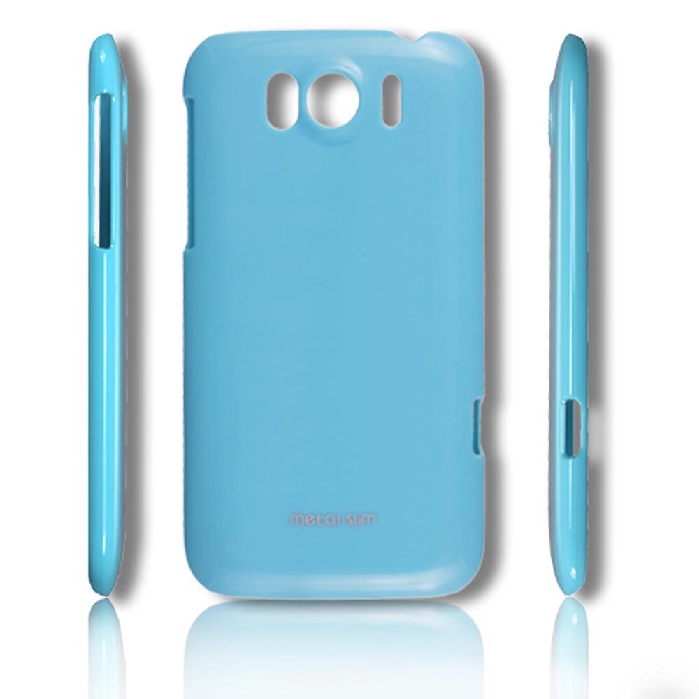 Metal-Slim HTC Sensation XL 保護殼 彩色系列 湖水藍