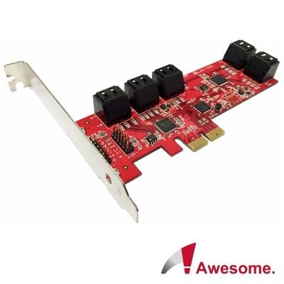 Awesome PCIe2.0x10埠AHCI SATAIII擴充卡-AWD-PE-129