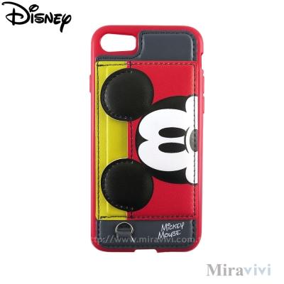 Disney迪士尼iPhone 8/7(4.7吋)可立式經典大頭皮革保護套