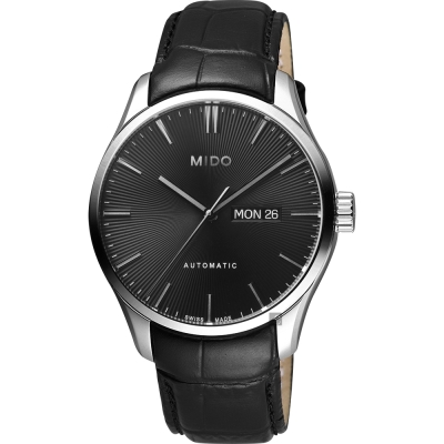 MIDO美度 Belluna Gent 經典日期機械錶-黑/42mm