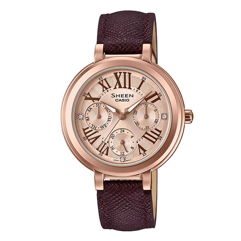 SHEEN 晨曦細語氣質晶鑽腕錶-SHE-3034GL-7A2UDF-32mm