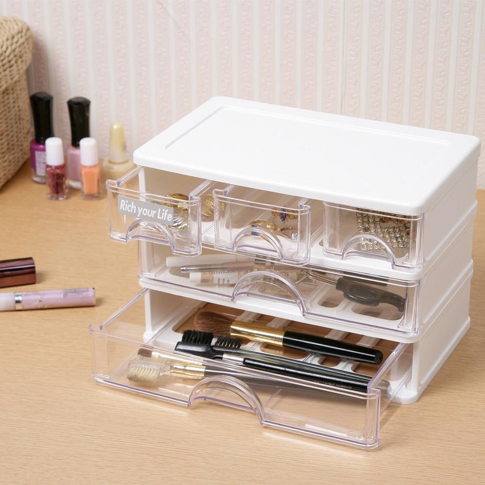 創意達人奧莉微3+2抽屜收納盒(2入)