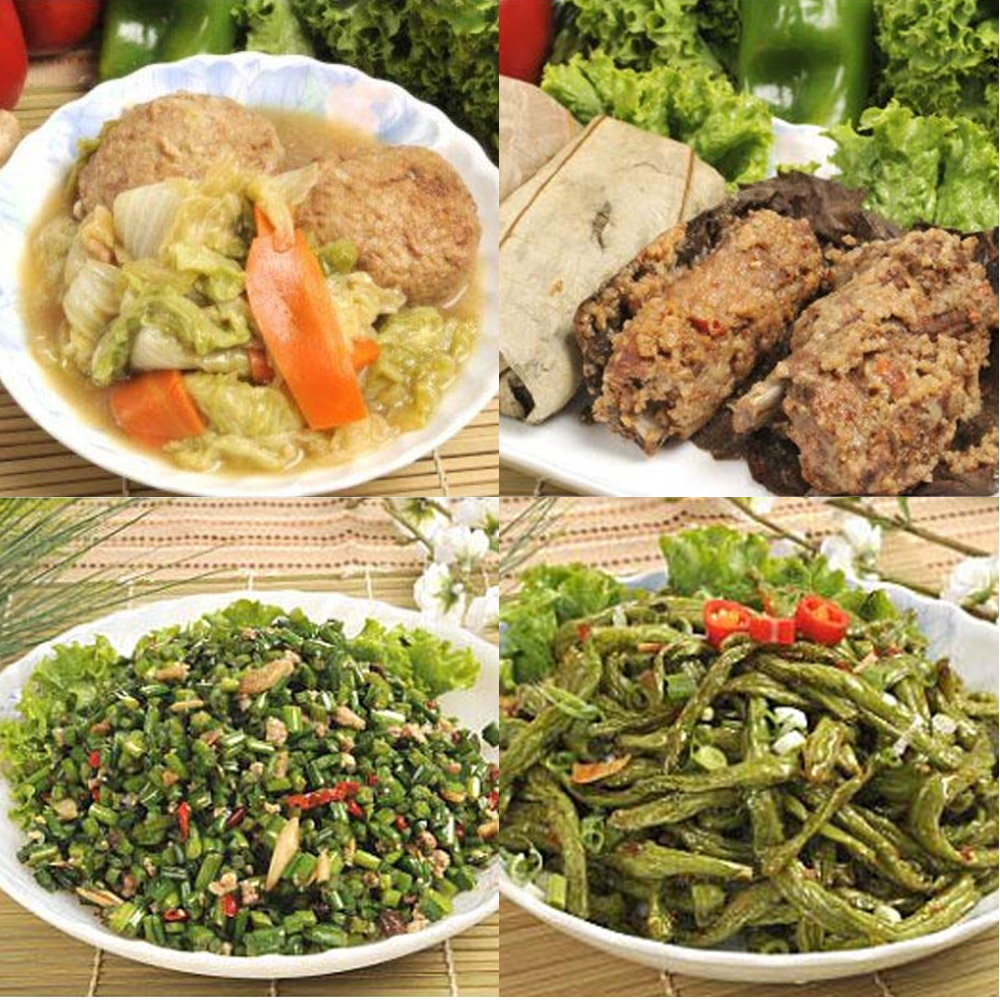 南門市場逸湘齋 江浙蔥烤鯽魚、紅燒獅子頭、蒼蠅頭、乾扁四季豆(4件組)