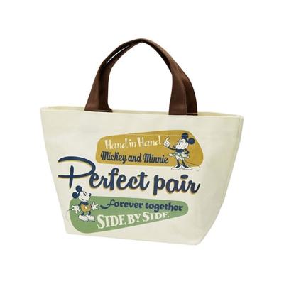 SKATER-迪士尼復古徽章系列帆布便當提袋-米奇