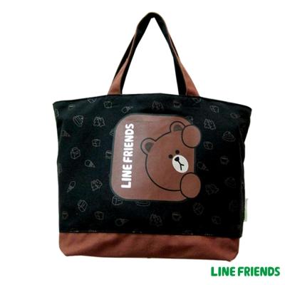 LINE FRIENDS  熊大帆布托特袋(黑)LI5449