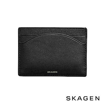 SKAGEN CARD CASE 真皮名片夾-黑色
