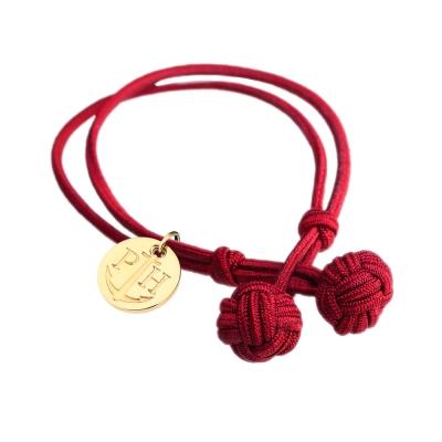 PAUL HEWITT 德國出品 Knot 紅色繩結手環