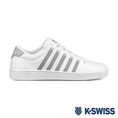 K-swiss Court Addison NT休閒運動鞋-男-白/灰