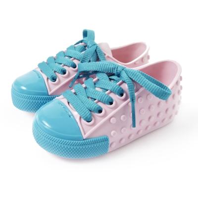 MINI MELISSA豆豆鞋-粉紅/亮藍