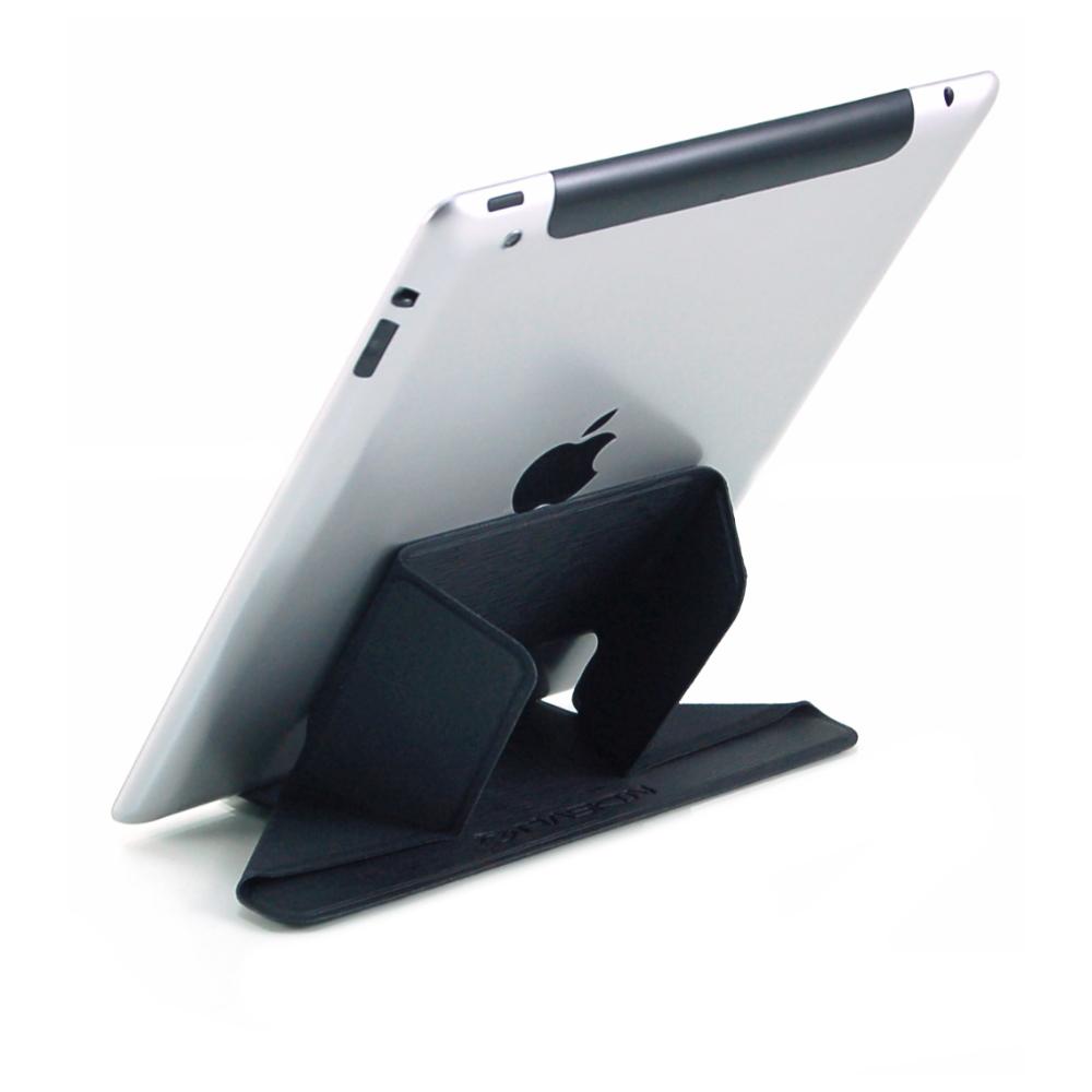 MASKIN 創意翻折 輕薄易攜帶 免手持 iPad/平板/手機 精品皮革支架