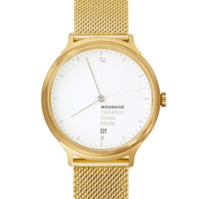 MONDAINE 瑞士國鐵設計系列限量腕錶- 金米蘭帶/38mm