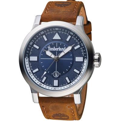 Timberland狙擊時刻時尚腕錶(TBL.15248JS 03)-46mm/藍x咖啡
