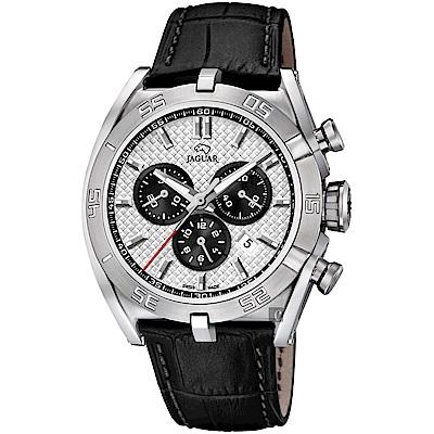JAGUAR積架 EXECUTIVE 極速計時手錶-銀x黑/45.8mm