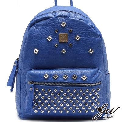 JW潮流嚴選WOW滿版鉚釘後背包-共4色-寶石藍
