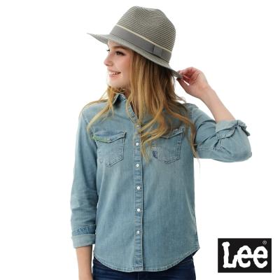 Lee 牛仔Vintage Laundry百搭易配襯衫-女-藍色