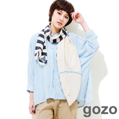 gozo-氣質簡約紋路襯衫-淺藍