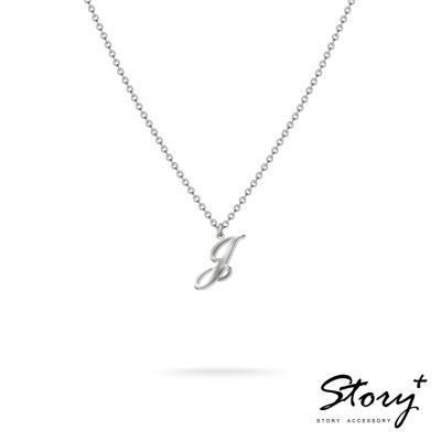 STORY ACCESSORY-字母系列-字母J 純銀項鍊
