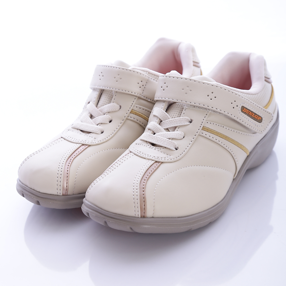 日本DUNLOP機能健走鞋-4E寬楦007CR米-女段