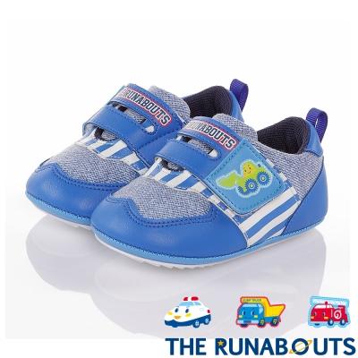 三麗鷗 THE RUNABOUTS  柔軟輕量減壓寶寶學步童鞋-藍