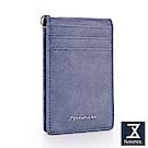74盎司 十字紋鏡面設計票卡套[LN-724]藍
