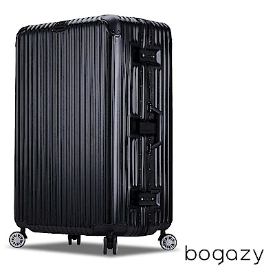 Bogazy 旅程光點 29吋鋁框拉絲紋加厚行李箱 (沉穩黑)