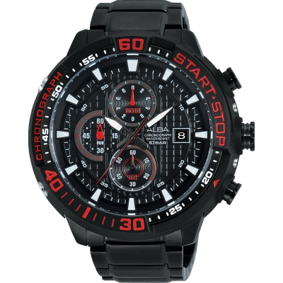 ALBA SignA 疾速奔馳計時腕錶(AM3099X1)-鍍黑/49mm