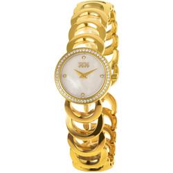 NATURALLY JOJO 優雅風采晶鑽時尚腕錶-珍珠母貝白/25mm