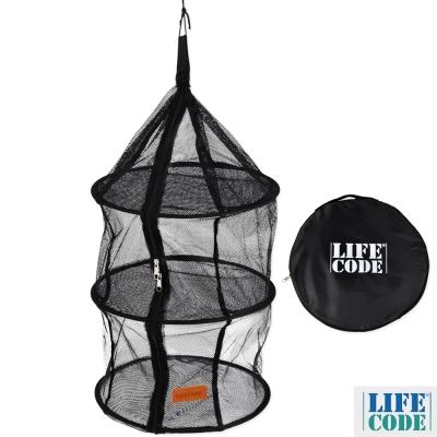 LIFECODE 三層曬碗籃/曬網/吊籃/餐廚籃 (黑色)
