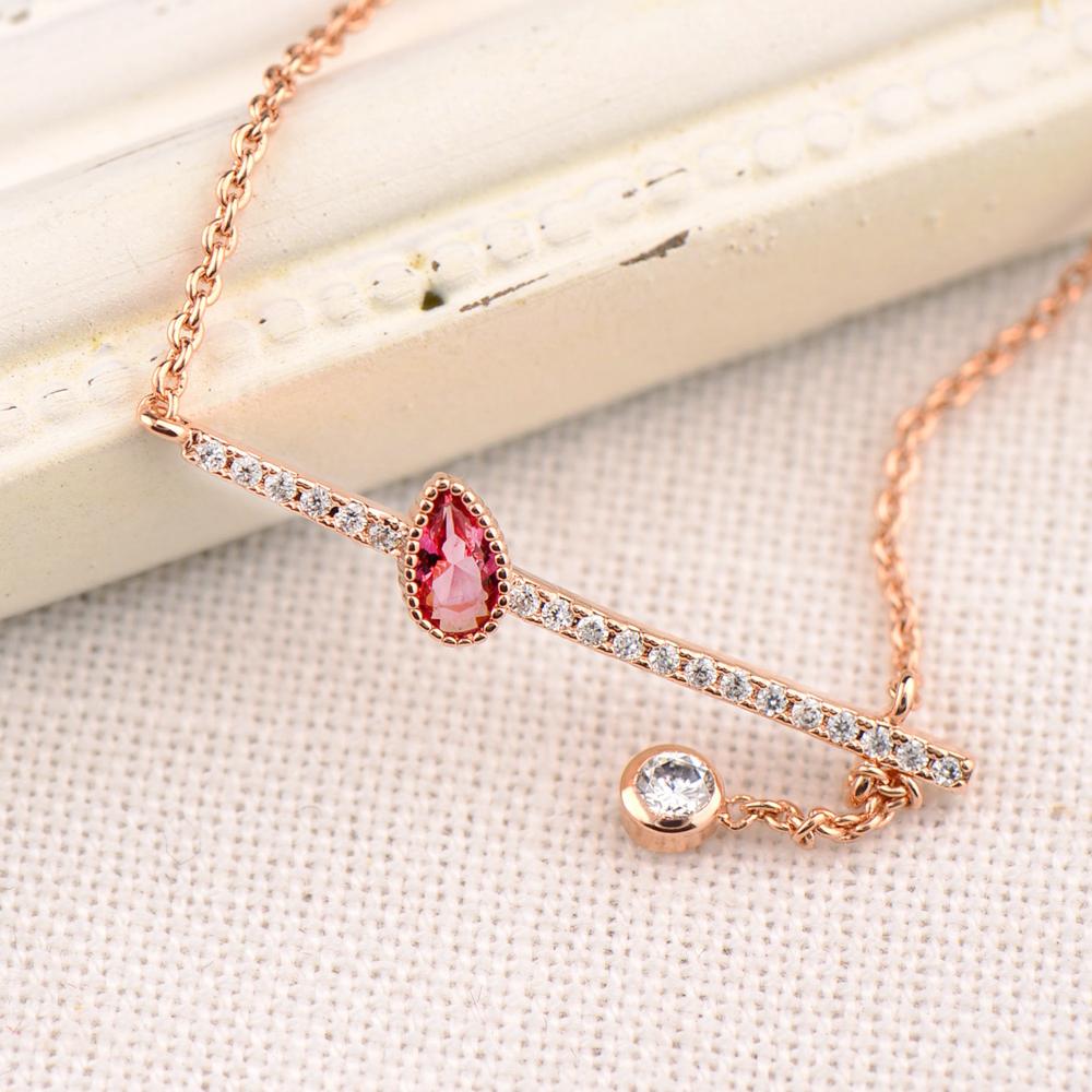 微醺禮物 項鍊 頂級鋯石 合金鍍K金 情人的眼淚 項鍊