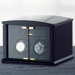 ELMA MOTION  Corona 2 機械錶自動上鍊收藏盒-黑色鋼琴烤漆/2只裝