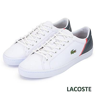 LACOSTE 男用休閒/運動鞋-白