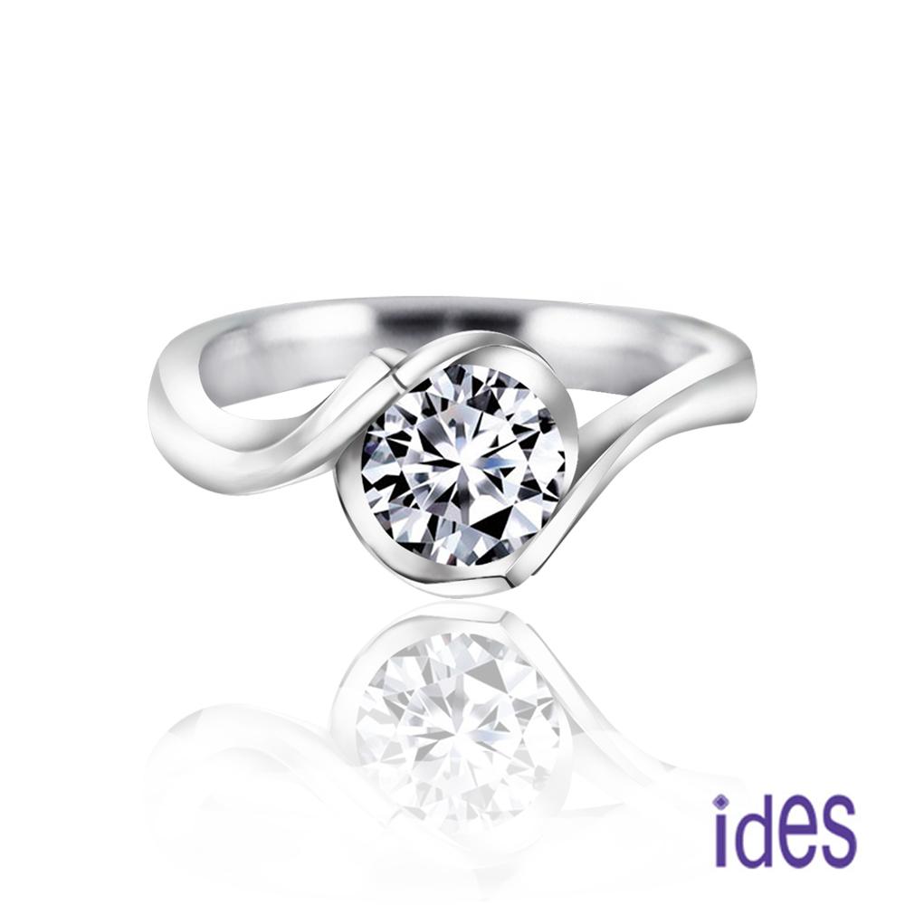 ides愛蒂思 GIA鑑定1克拉E/VS1八心八箭完美3EX車工鑽石戒指