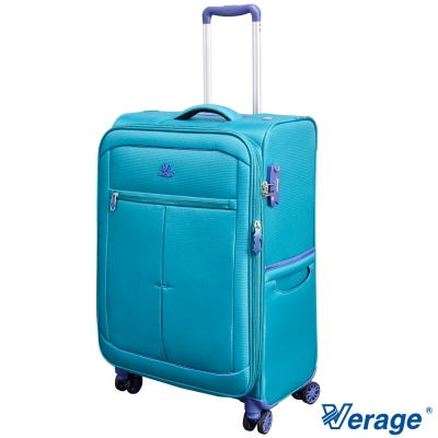 Verage 維麗杰 24吋 超輕量經典格紋環保旅行箱三代(藍)