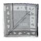 Alviero Martini 義大利地圖 愛心邊條方巾-灰(80X80) product thumbnail 1