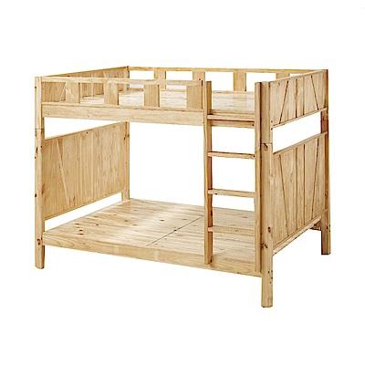 品家居 托瑪3.5尺實木單人雙層床架組合(可拆式床架)-202x144.4x165cm免組