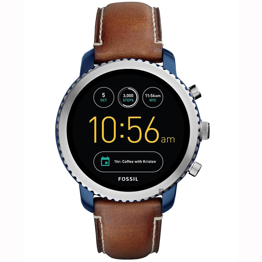 Fossil Q Explorist 系列觸控智能手錶-黑x咖啡/44mm
