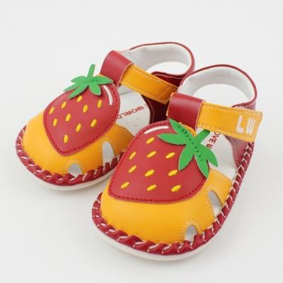 愛的世界 草莓園寶寶鞋/學步鞋-台灣製-