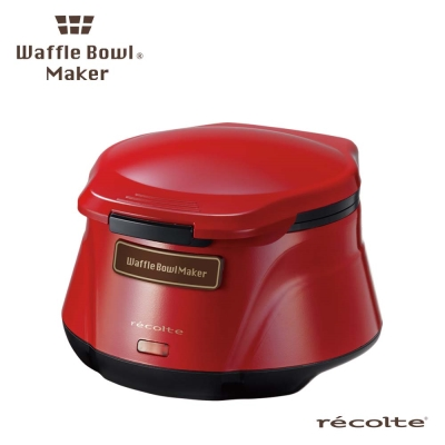 recolte 日本麗克特Waffle Bowl 杯子鬆餅機RWB-1(甜心紅)